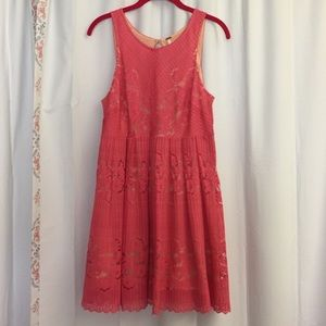 3/$25 Free People Pink Open Back Dress Size 8